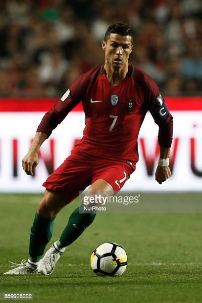 Portugal's forward Cristiano Ronaldo in action during the FIFA World Cup WC 2018 football qualifier match between Portugal and Switzerland in Lisbon...