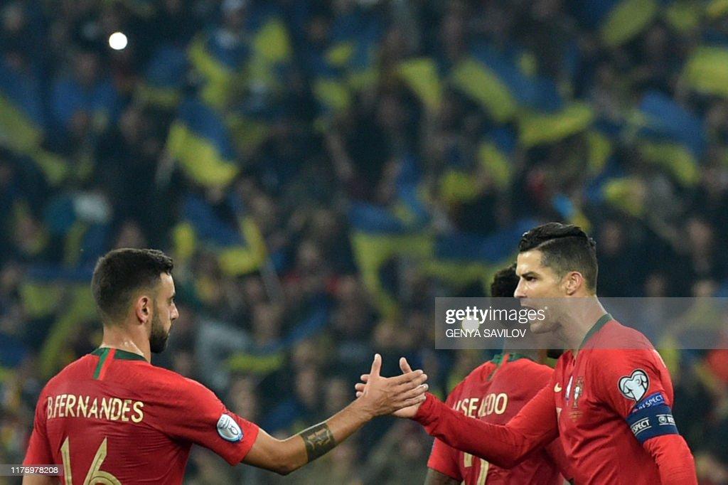 FBL-EURO-2020-QUALIFIER-UKR-POR : News Photo