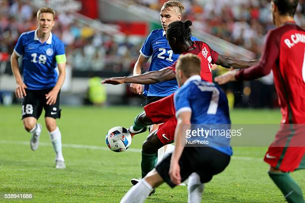 Portugals forward Eder scores goal during international friendly match between Portugal and Estonia in preparation for the Euro 2016 at Estadio da...