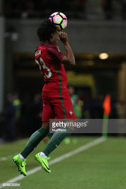 Portugals forward Gelson Martins during the FIFA 2018 World Cup friendly match between Portugal v Sweden at Estadio dos Barreiros on March 28 2017 in...