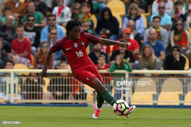 Portugal's forward Gelson Martins in action during the friendly football match Portugal vs Cyprus at Antonio Coimbra da Mota Stadium in Estoril...