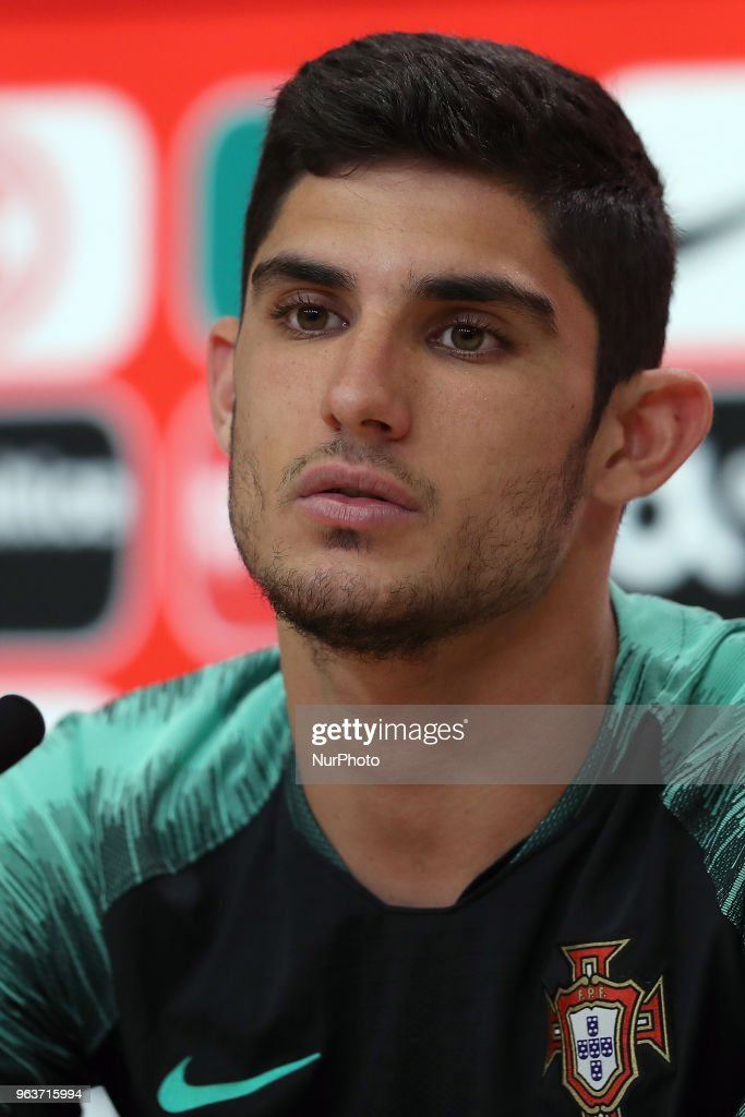 Portugal's forward Goncalo Guedes attends a press conference before a training session at Cidade do Futebol (Football City) training camp in Oeiras, outskirts of Lisbon, on May 30, 2018, ahead of the FIFA World Cup Russia 2018 preparation matches against Belgium and Algeria. during the Portuguese League football match Sporting CP vs Vitoria Guimaraes at Alvadade stadium in Lisbon on March 5, 2017. Photo: Pedro Fiuzaduring the Portugal Cup Final football match CD Aves vs Sporting CP at the Jamor stadium in Oeiras, outskirts of Lisbon, on May 20, 2015.