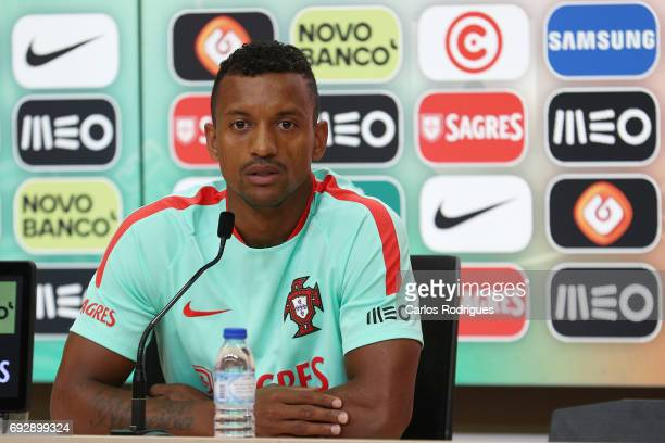 Portugal's forward Nani during Portugal Training Session and Press Conference the at Cidade do Futebol on June 06 2017 in Lisbon Portugal