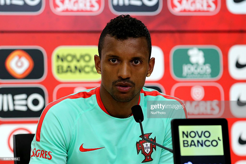 Portugals forward Nani during Portugal's National Team Press Conference in preparation for the Euro 2016 at FPF Cidade do Futebol (City of Football) on June 5, 2016 in Oeiras (Lisbon), Portugal.