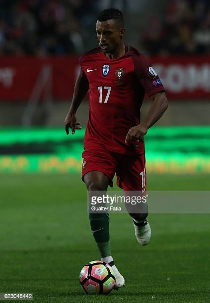 Portugal's forward Nani in action during the FIFA 2018 World Cup Qualifier match between Portugal and Latvia at Estadio Algarve on November 13 2016...