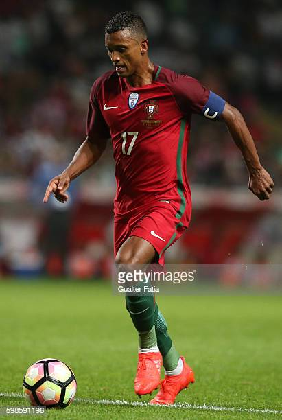 Portugal's forward Nani in action during the International Friendly match between Portugal and Gibraltar at Estadio do Bessa on September 1 2016 in...