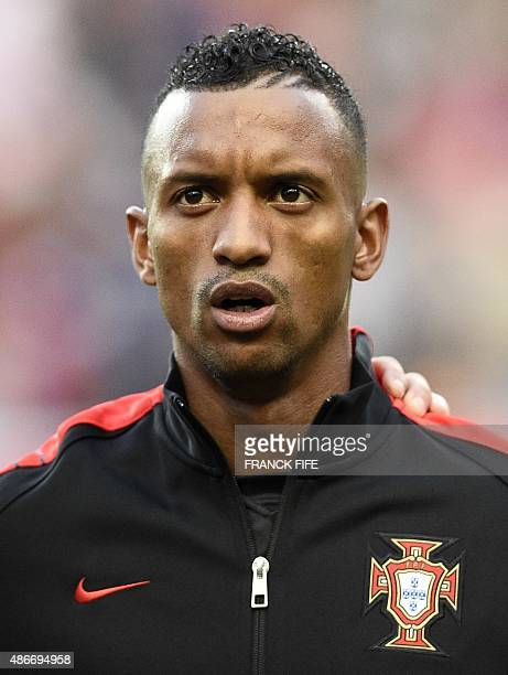 Portugal's forward Nani poses during the Euro 2016 friendly football match Portugal vs France at the Jose Alvalade stadium in Lisbon on September 4...