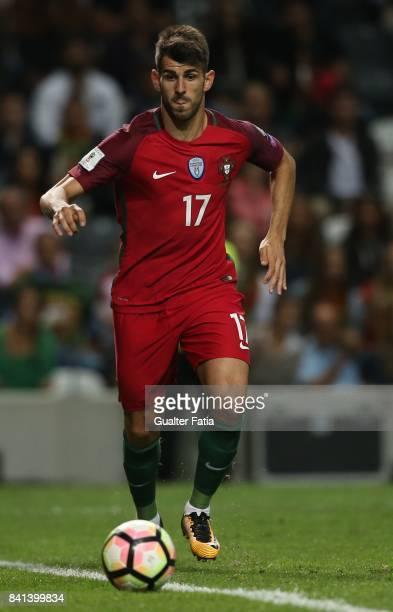 Portugal's forward Nelson Oliveira in action during the FIFA 2018 World Cup Qualifier match between Portugal and Faroe Islands at Estadio do Bessa on...