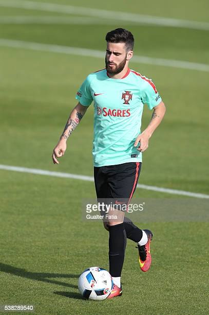 Portugal's forward Rafa Silva in action during Portugal's National Training session in preparation for the Euro 2016 at FPF Cidade do Futebol on June...