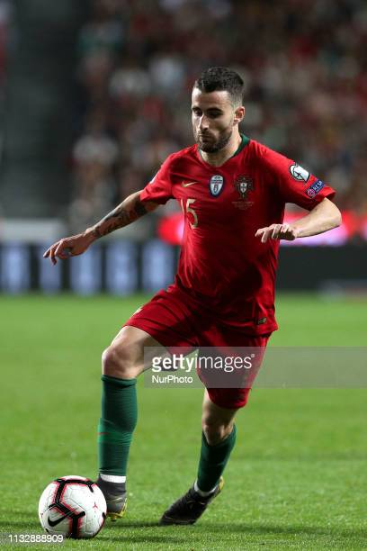 Portugal's forward Rafa Silva in action during the UEFA EURO 2020 group B qualifying football match Portugal vs Serbia at the Luz Stadium in Lisbon...