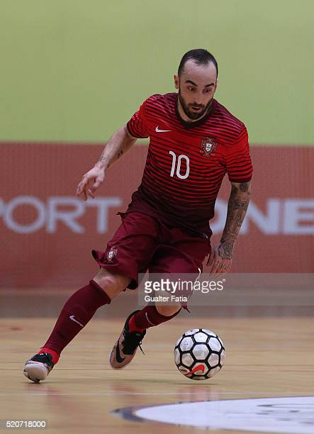 PortugalÕs forward Ricardinho in action during the FIFA Futsal playoff match between Portugal and Serbia at Pavilhao Multiusos de Odivelas on April...