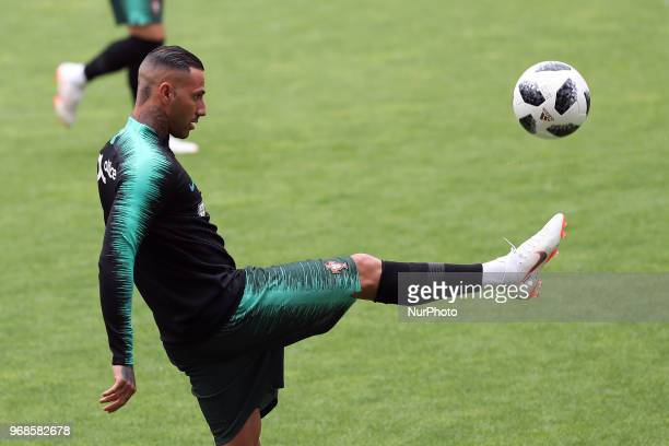 Portugal's forward Ricardo Quaresma in action during a training session at the Luz stadium in Lisbon Portugal on June 6 on the eve of the FIFA World...