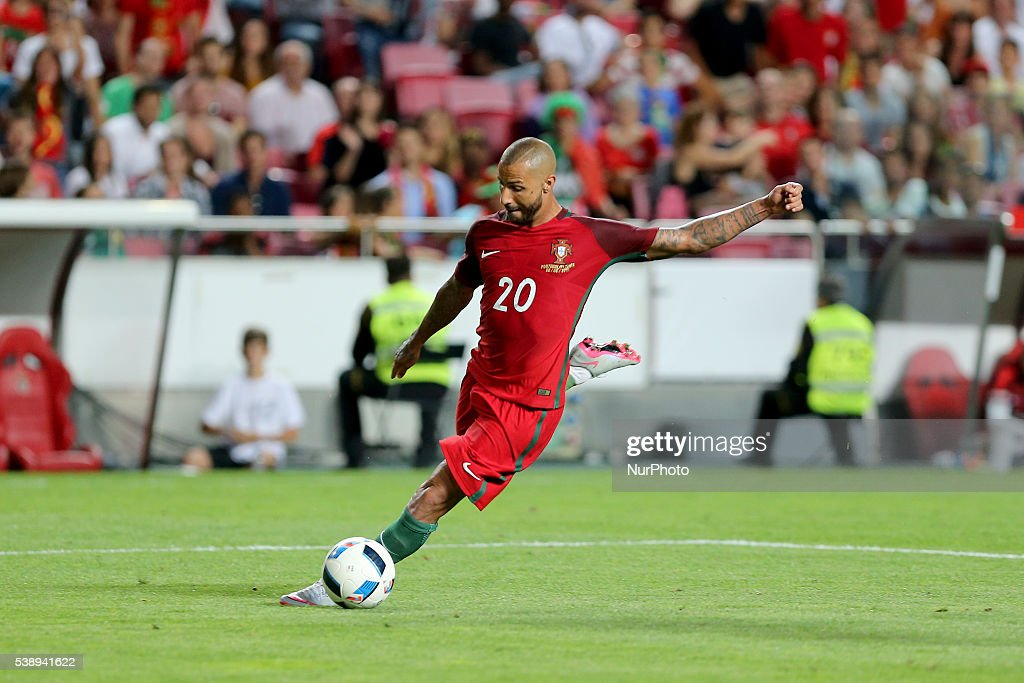 Portugals forward Ricardo Quaresma in action during international friendly match between Portugal and Estonia in preparation for the Euro 2016 at Estadio da Luz on June 8, 2016 in Lisbon, Portugal.