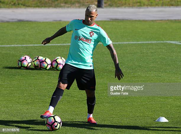 Portugal's forward Ricardo Quaresma in action during Portugal's National Team Training session before the 2018 FIFA World Cup Qualifiers matches...