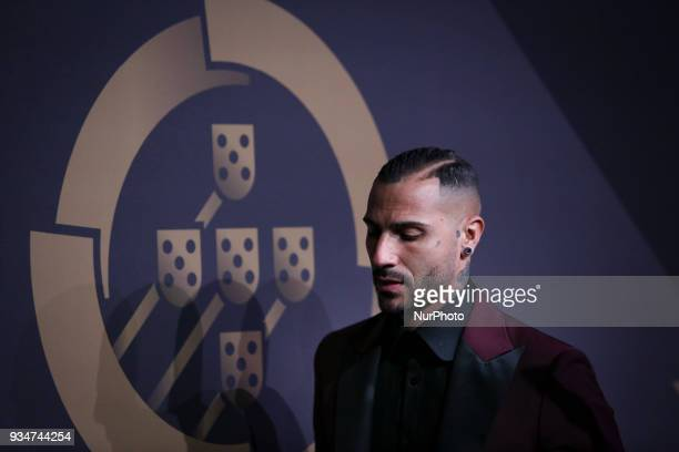 Portugal's forward Ricardo Quaresma poses at 'Quinas de Ouro' ceremony held at Pavilhao Carlos Lopes in Lisbon on March 19 2018