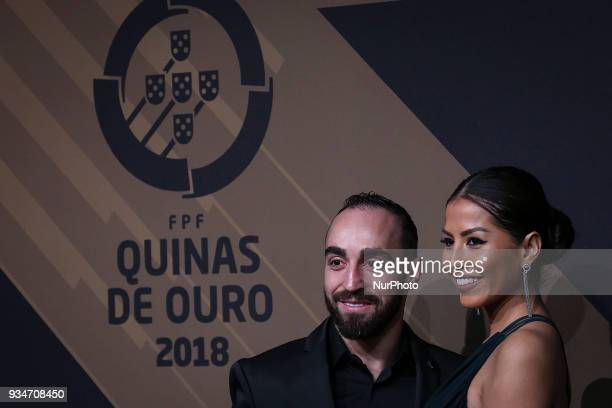 Portugal's futsal player Ricardinho poses on arrival at quotQuinas de Ouroquot ceremony held at Pavilhao Carlos Lopes in Lisbon on March 19 2018...