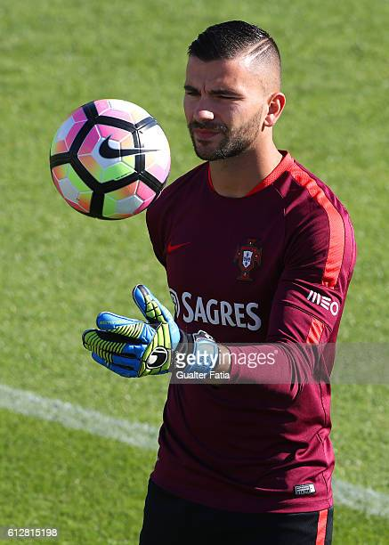 Portugal's goalkeeper Anthony Lopes during Portugal's National Team Training session before the 2018 FIFA World Cup Qualifiers matches against...
