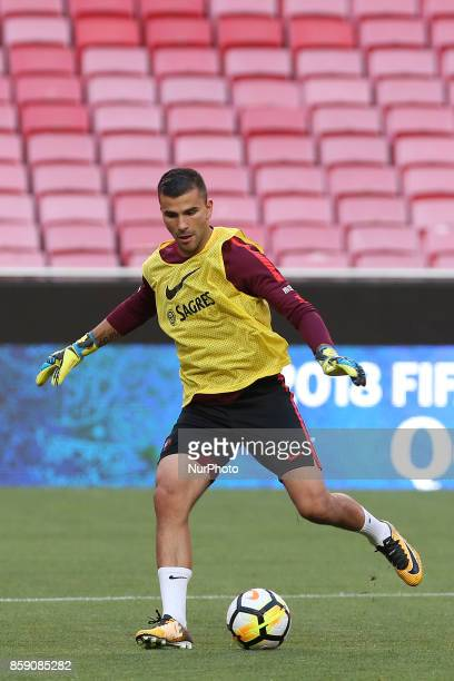 Portugals goalkeeper Anthony Lopes in action during National Team Training session before the match between Portugal and Switzerland at Luz Stadium...