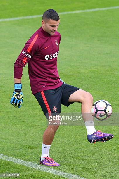 Portugal's goalkeeper Anthony Lopes in action during Portugal's National Team Training session before the 2018 FIFA World Cup Qualifiers matches...