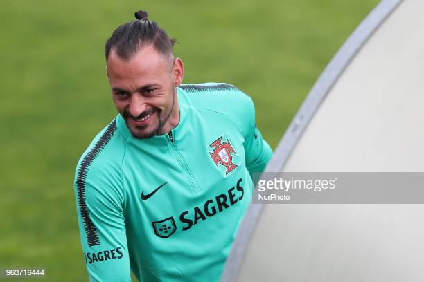 Portugal's goalkeeper Beto during a training session at Cidade do Futebol training camp in Oeiras outskirts of Lisbon on May 30 ahead of the FIFA...
