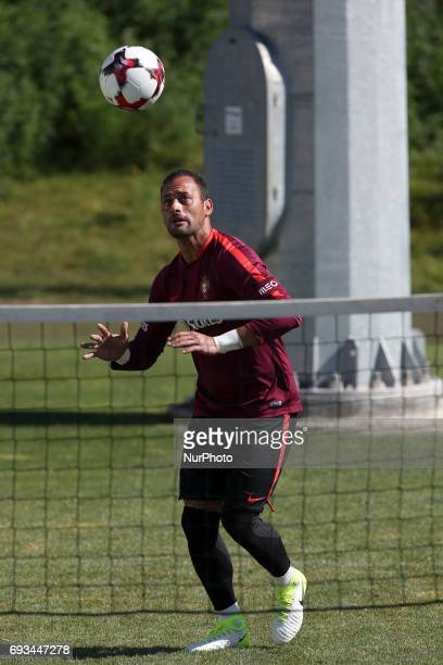 Portugal's goalkeeper Beto in action during a training session at quotCidade do Futebolquot training camp in Oeiras outskirts of Lisbon on June 7...