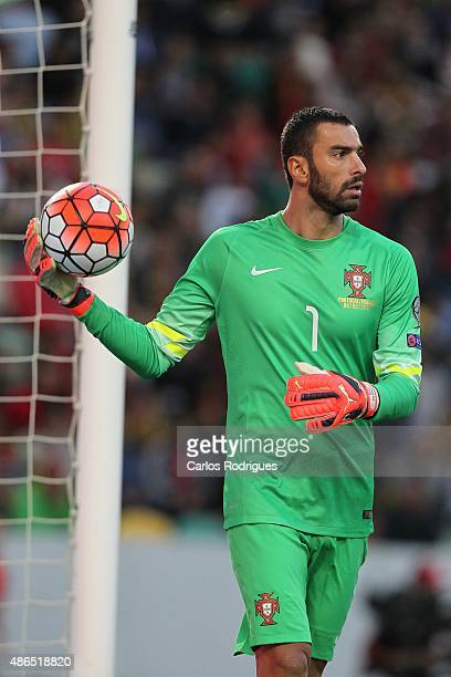 Portugal's goalkeeper Rui Patricio during the Friendly match between Portugal and France on September 04 2015 in Lisbon Portugal