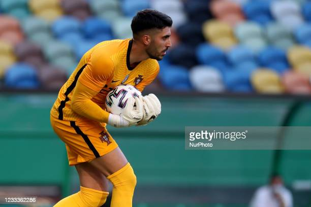 Portugal's goalkeeper Rui Silva in action during the international friendly football match between Portugal and Israel, at the Jose Alvalade stadium...