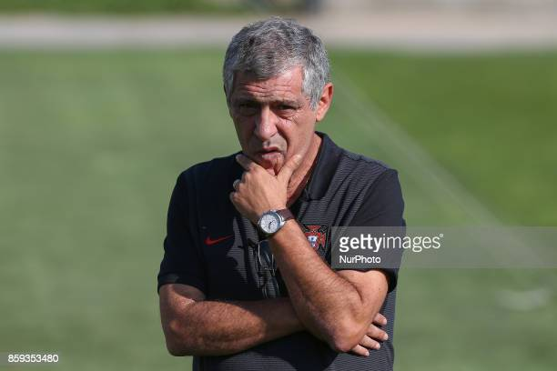 Portugals head coach Fernando Santos in action during National Team Training session before the match between Portugal and Switzerland at City...