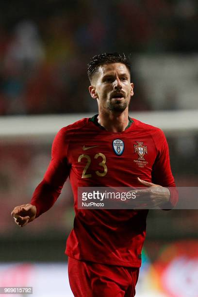 Portugal's midfielder Adrien Silva during the FIFA World Cup Russia 2018 preparation match between Portugal vs Algeria in Lisbon on June 7 2018