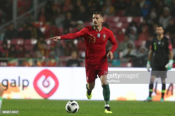 Portugal's midfielder Adrien Silva in action during the FIFA World Cup Russia 2018 preparation football match Portugal vs Algeria at the Luz stadium...