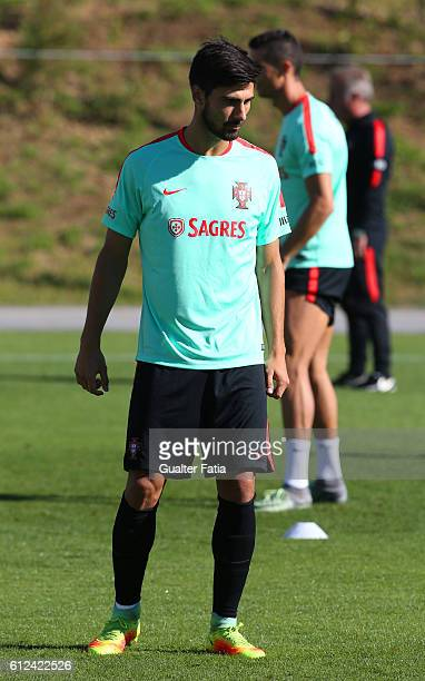 Portugal's midfielder Andre Gomes during Portugal's National Team Training session before the 2018 FIFA World Cup Qualifiers matches against Andorra...