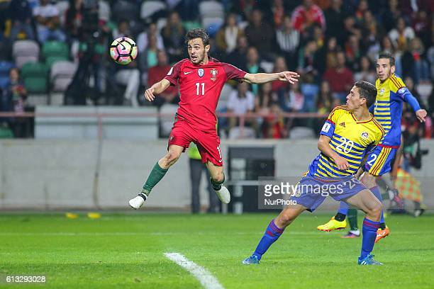 Portugals midfielder Bernardo Silva and Andorras defender Max Llovera during the 2018 FIFA World Cup Qualifiers matches between Portugal and Andorra...