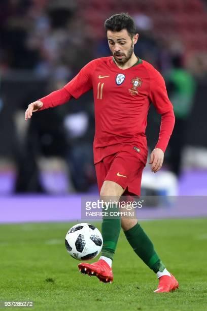 Portugal's midfielder Bernardo Silva controls the ball during an international friendly football match between Portugal and Egypt at Letzigrund...