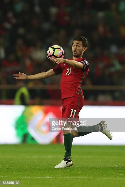Portugal's midfielder Bernardo Silva during FIFA 2018 World Cup Qualifier between Portugal and Andorraat Estadio Municipal de Aveiro on October 07...