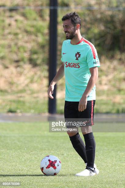 Portugal's midfielder Bernardo Silva during Portugal Training Session and Press Conference for the Confederations Cup 2017 at Cidade do Futebol on...