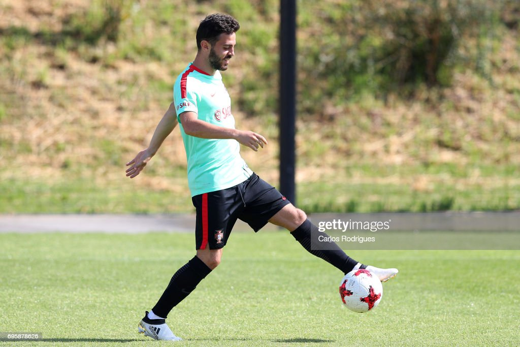 Portugal's midfielder Bernardo Silva during Portugal Training Session and Press Conference for the Confederations Cup 2017 at Cidade do Futebol on June 14, 2017 in Lisbon, Portugal.
