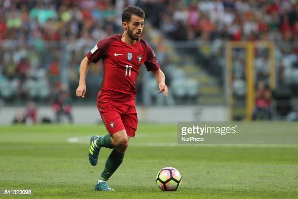 Portugal's midfielder Bernardo Silva during the FIFA World Cup Russia 2018 qualifier match between Portugal and Faroe Islands at Bessa Sec XXI...