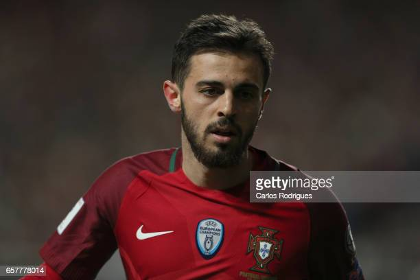 Portugal's midfielder Bernardo Silva during the match between Portugal and Hungary for FIFA 2018 World Cup Qualifier at Estadio da Luz on March 25...