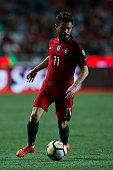 portugals midfielder bernardo silva action during