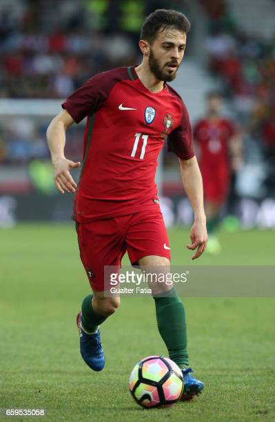 Portugal's midfielder Bernardo Silva in action during the International Friendly match between Portugal and Sweden at Estadio dos Barreiros on March...