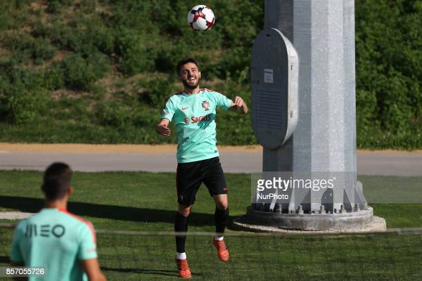 Portugal's midfielder Bernardo Silva in action during the National Team Training session before the match between Portugal and Andorra at City...