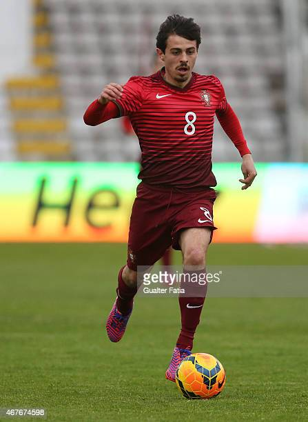 Portugal's midfielder Bernardo Silva in action during the U21 International Friendly between Portugal and Denmark on March 26 2015 in Marinha Grande...