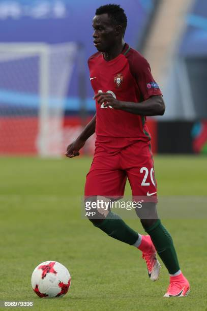 Portugal's midfielder Bruma plays the ball during the UEFA U21 European Championship Group B football match Portugal v Serbia in Bydgoszcz Poland on...