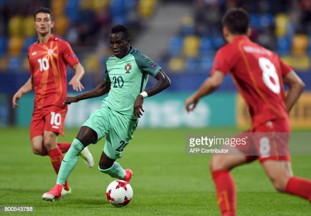 Portugal's midfielder Bruma plays the ball during the UEFA U21 European Championship Group B football match FYR Macedonia vs Portugal in Gdynia...