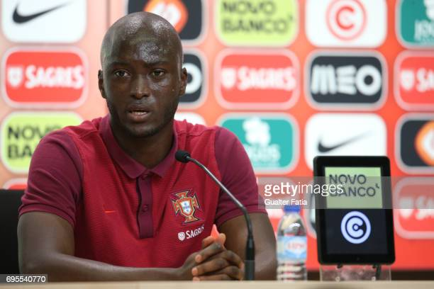 Portugal's midfielder Danilo Pereira talks during Portugal's National Team Press Conference before the 2017 FIFA Confederations Cup matches at FPF...
