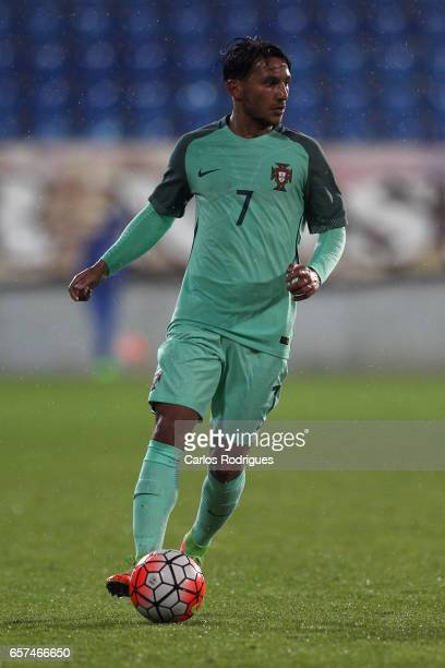 Portugal's midfielder Joao Carvalho during the match between Portugal v Norway U21 International Friendly match at Estadio Antonio Coimbra da Mota on...