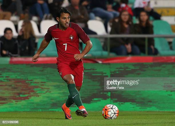 Portugal's midfielder Joao Carvalho in action during U21 Friendly match between Portugal and Czech Republic at Estadio do Bonfim on November 11 2016...