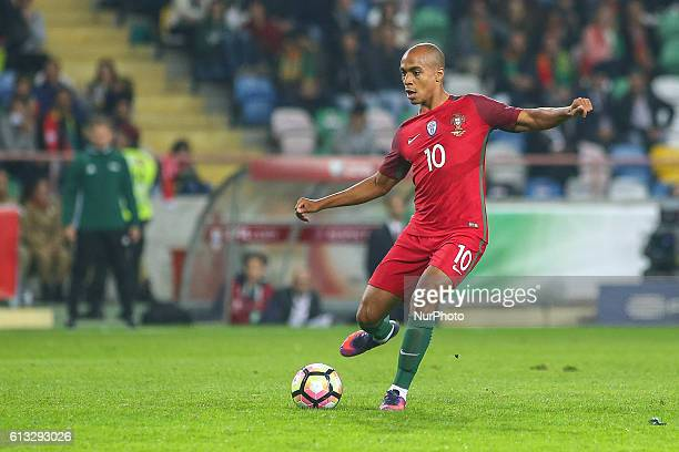 Portugals midfielder Joao Mario during the 2018 FIFA World Cup Qualifiers matches between Portugal and Andorra in Municipal de Aveiro Stadium on...
