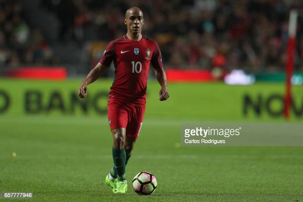 Portugal's midfielder Joao Mario during the match between Portugal and Hungary for FIFA 2018 World Cup Qualifier at Estadio da Luz on March 25 2017...