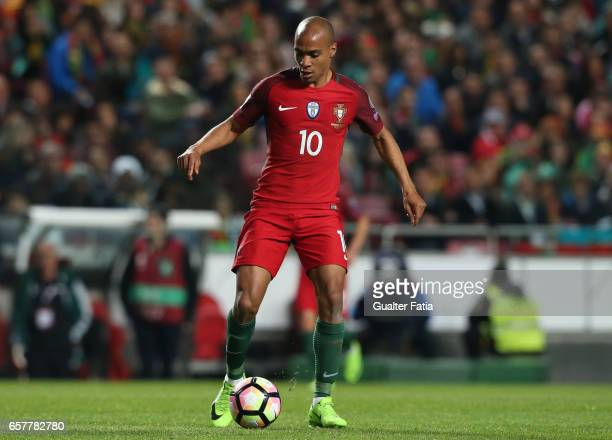 Portugal's midfielder Joao Mario in action during the FIFA 2018 World Cup Qualifier match between Portugal and Hungary at Estadio da Luz on March 25...